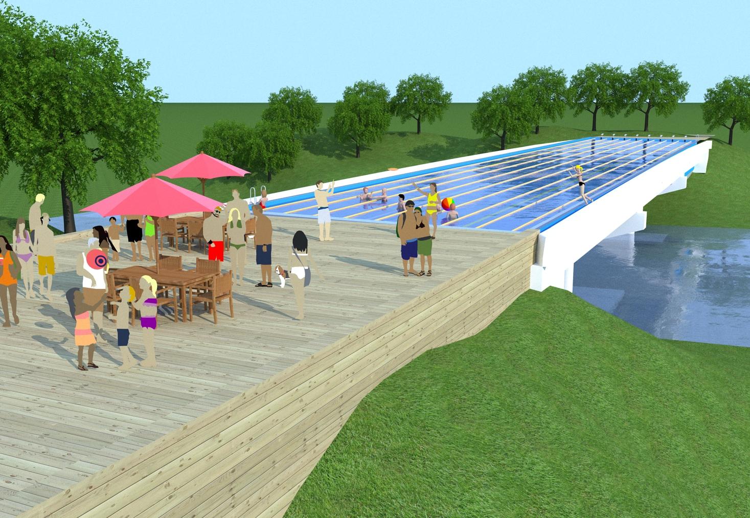 Swimming Pool Bridge Build : Swimming pool bridge concept tallbridgeguy