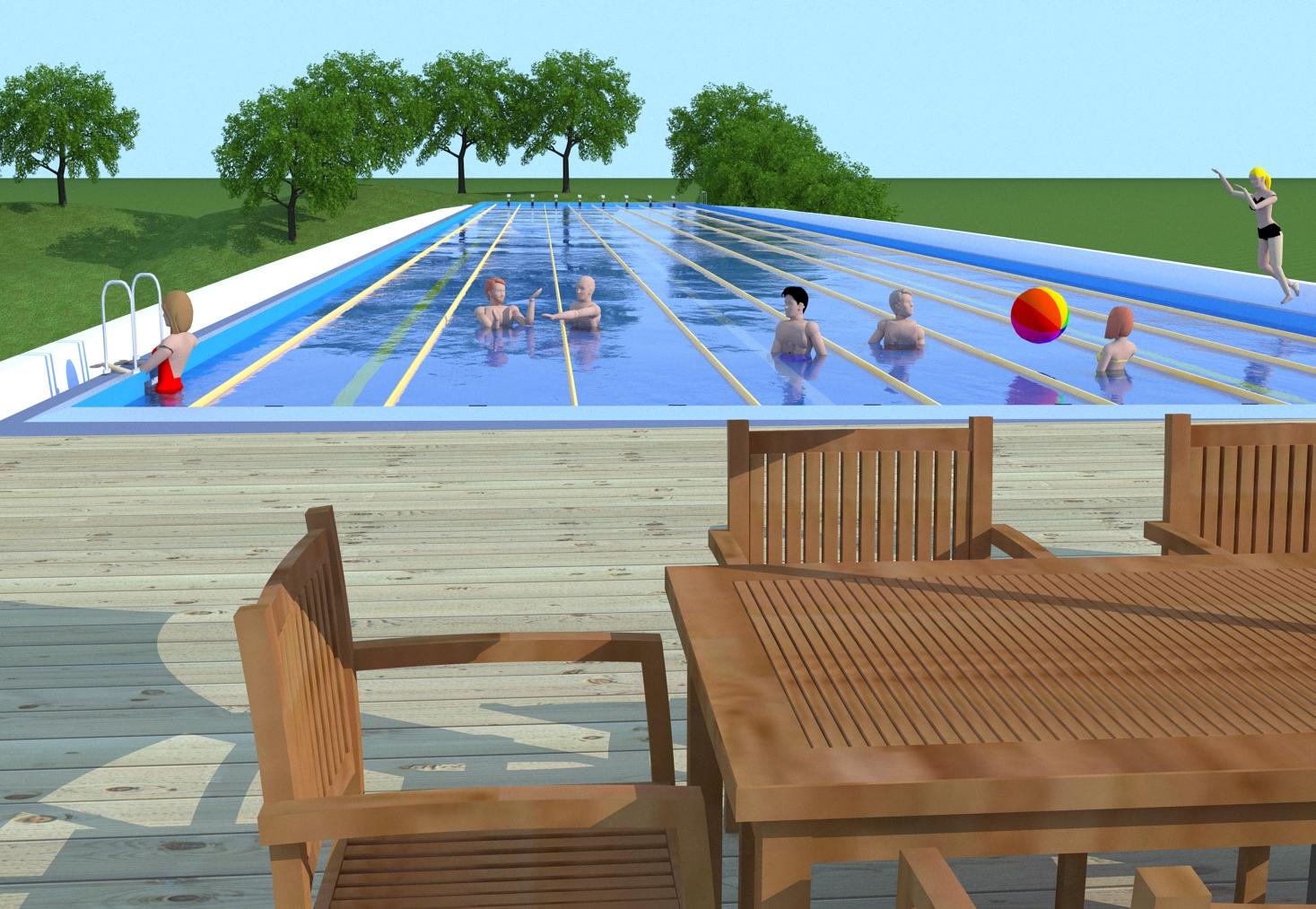 Swimming Pool Bridge – Bridge Concept – tallbridgeguy