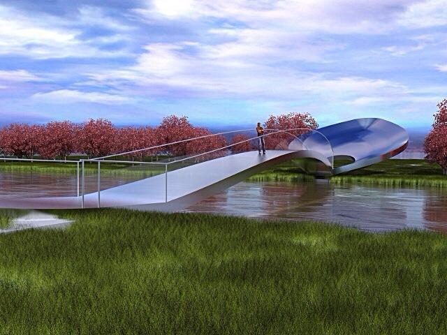 steel spoon bridge concept too view